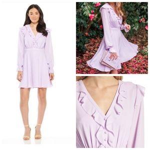 Gal meets Glam ruffle lavender lilac dress